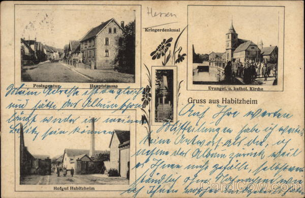 Various Views of Town Habitzheim Germany