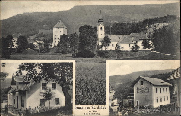 Views of Church and Houses St. Jakob Austria
