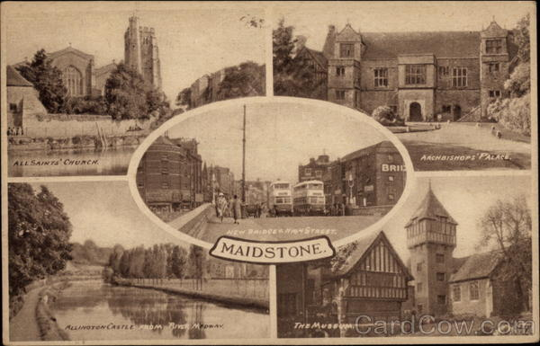 Various VIews of Town Maidstone England Kent