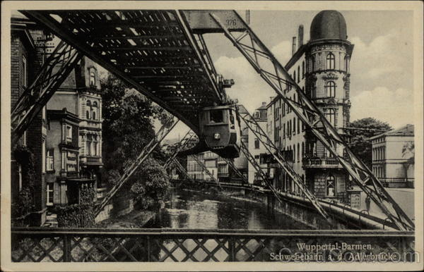 Suspended Monorail in Wuppertal Germany