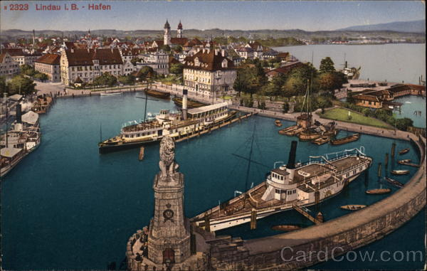 View of Harbor Lindau Germany