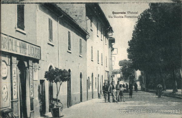 View of the street named Via Vecchia Fiorentina Pistoia Italy
