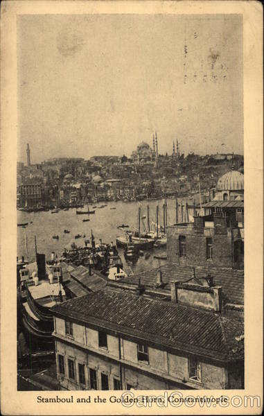 Stamboul and the Golden Horn Istanbul Turkey Greece, Turkey, Balkan States