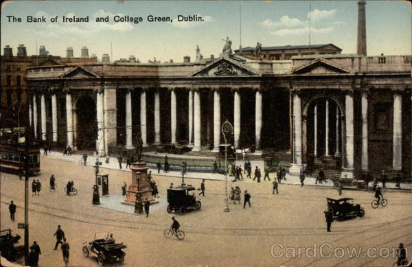 The Bank of Ireland and College Green Dublin