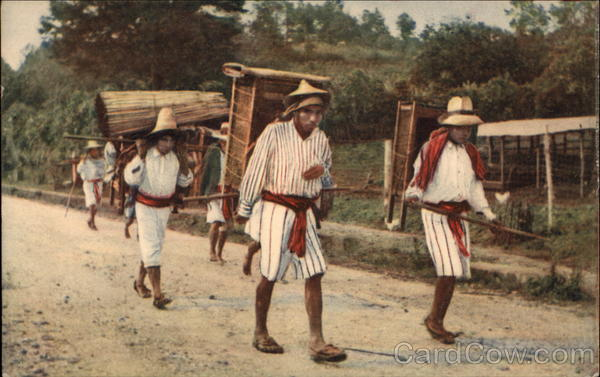 Indians Going to Quiche Market Guatemala Central America