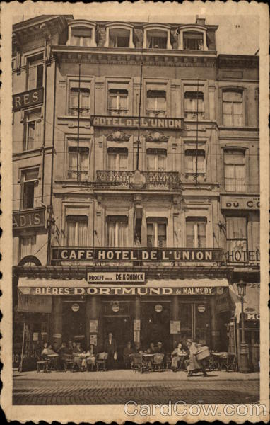 Cafe Hotel de l'Union Antwerp Belgium Benelux Countries