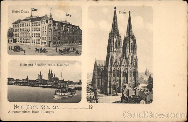 Hotel Disch and Various Views Cologne Germany