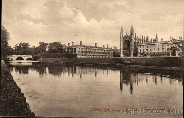 King's & Clare Colleges from RIver Cambridge England