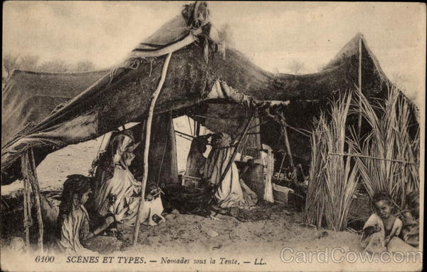 Nomadic Family in their Tent