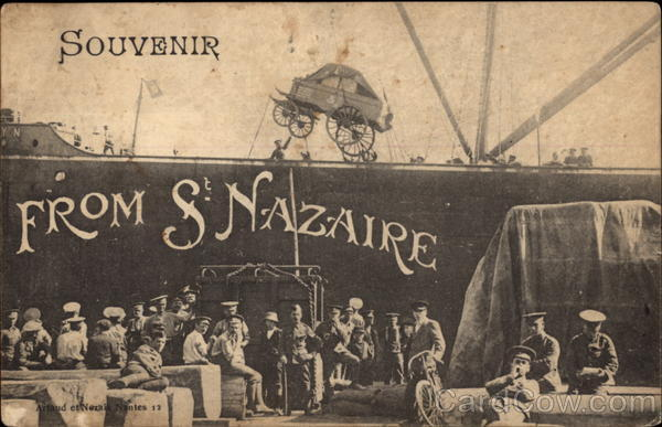 Troops at the Docks St. Nazaire France
