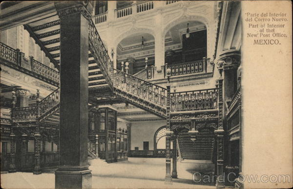 Part of the Interior of the New Post Office Mexico