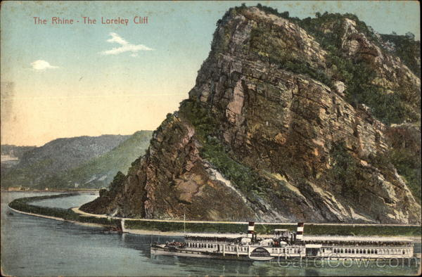 The Lorelei Cliff on the Rhine Sankt Goarshausen Germany