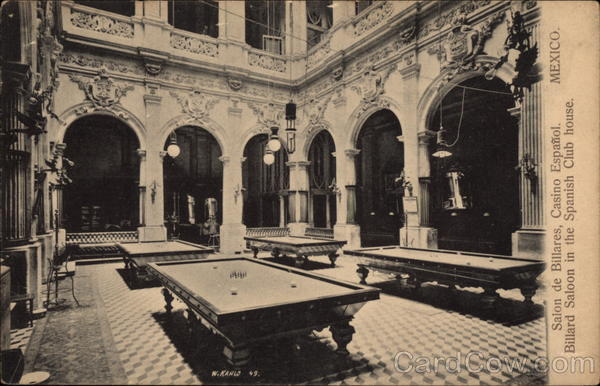 Billiard Saloon in the Spanish Club House Mexico City