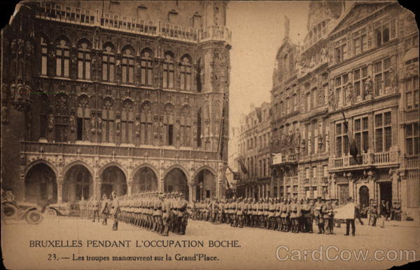 Maneuvering Troops on the Main Square Brussels Belgium