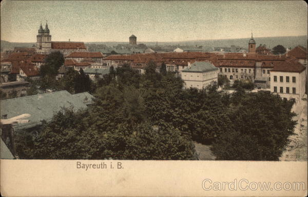 View Over the Town Bayreuth Germany
