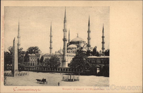 Mosque of Ahmed and the Hippodrome Istanbul Turkey
