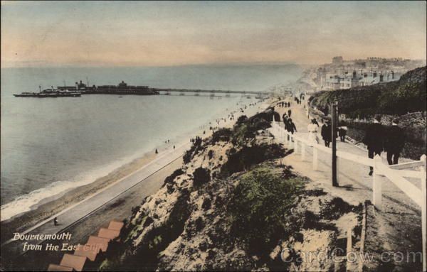 View from the East Cliff Bournemouth England Dorset