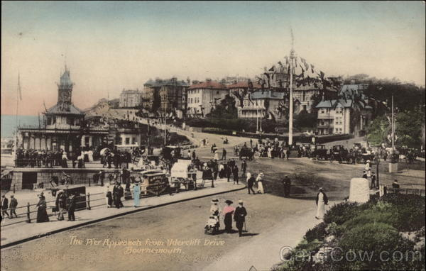 The Pier Approach from Undercliff Drive Bournemouth England