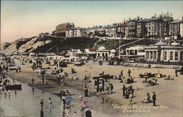 The West Cliff from the Pier Bournemouth England Dorset