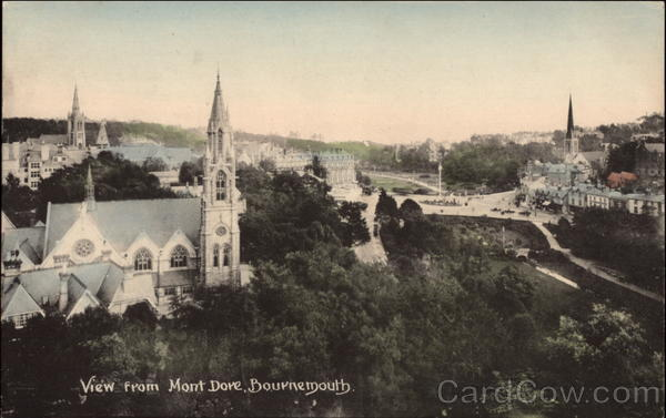 View from Mont Dore Bournemouth England Dorset