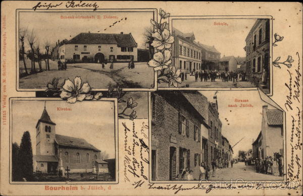 Four Views of Bourheim Borough in Jülich Germany