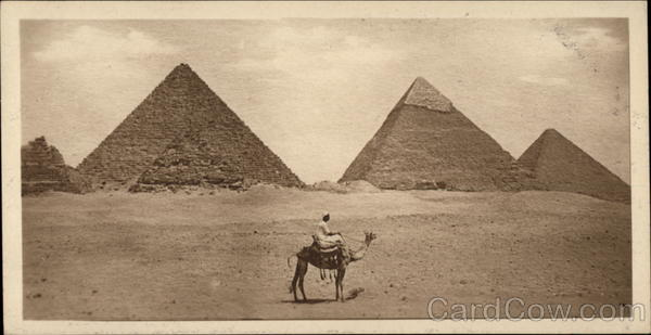 General View of the Four Pyramids Cairo Egypt Africa