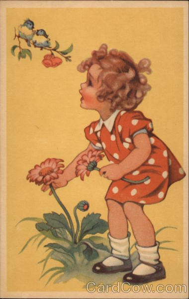 Young Girl Picking Daisies Sweden Girls