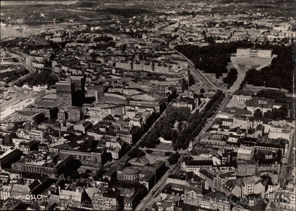 Aerial View of City Oslo Norway