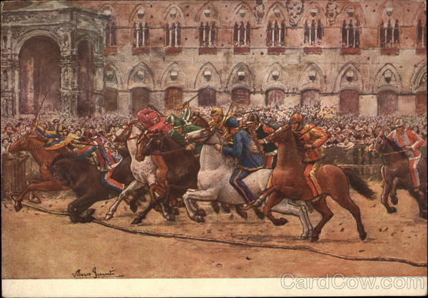 The Start of the Palio Race Siena Italy