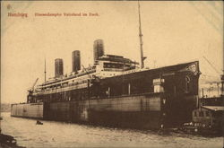 Ocean Liner Vaterland in dock