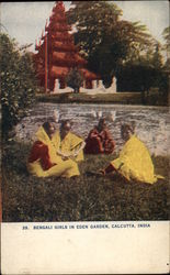 Bengali Girls in Eden Garden Postcard