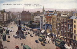 Westmoreland Street, O'Connell Street and Statue