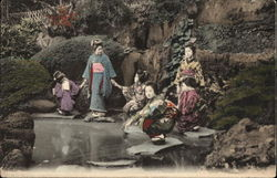 Japanese Family Near Lake