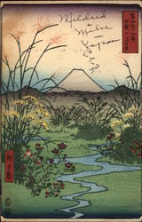 View of Mount Fuji and Landscape