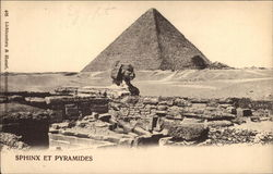 The Sphinx and Pyramids Postcard