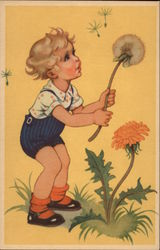 Young Boy with Dandelion Clock