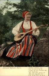 Sweish Woman Playing Lute