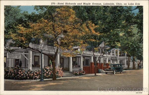 Hotel Richardaple Avenue On Lake Erie Lakeside Ohio