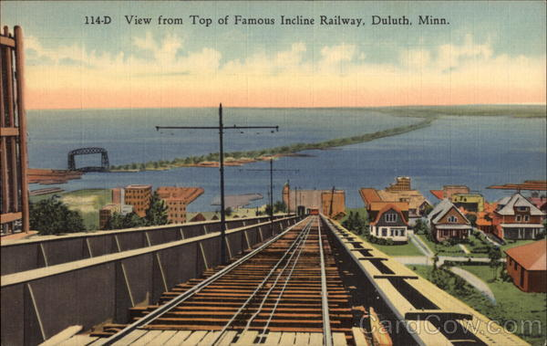 View from Top of Famous Incline Railway Duluth Minnesota