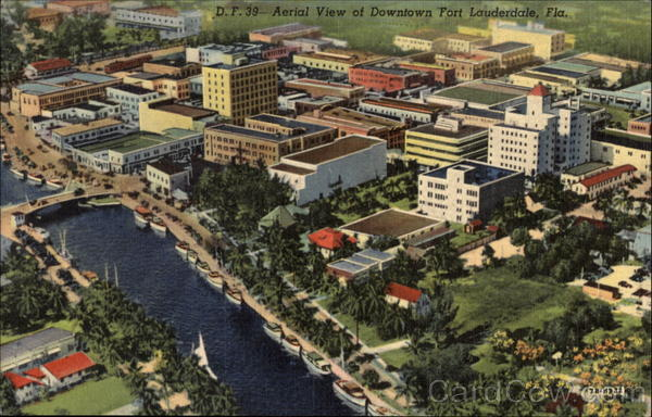 Aerial View of Downtown Fort Lauderdale Florida