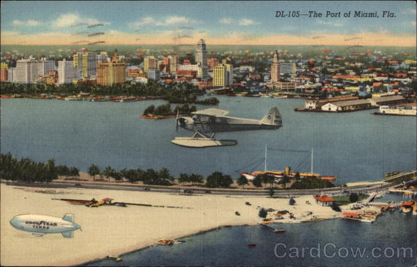 View of the Port Miami Florida