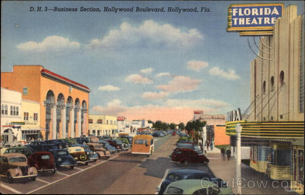 Business Section, Hollywood Boulevard Florida