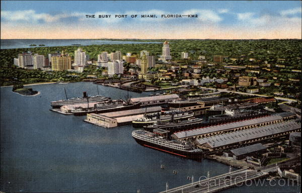 The Busy Port of Miami, Florida