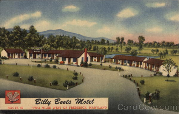 Billy Boots Motel Frederick Maryland