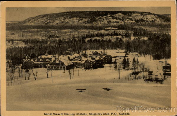 Aerial View of the Log Chateau, Seigniory Club Canada