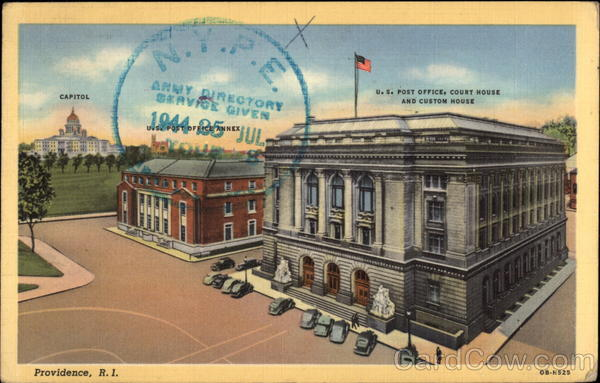 U.S. Post Office, Court House and Custom House Providence Rhode Island