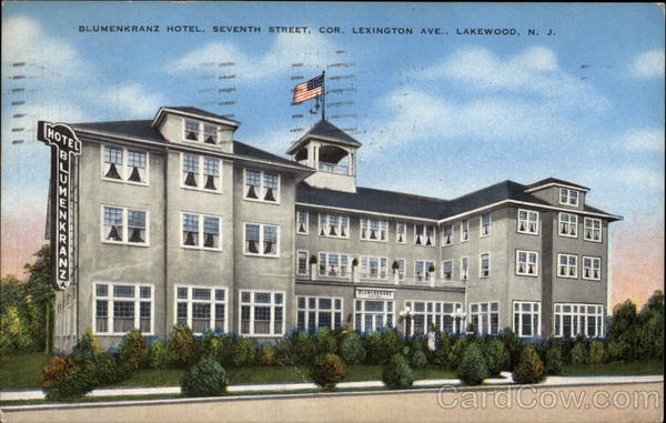 Blumenkranz Hotel Lakewood New Jersey