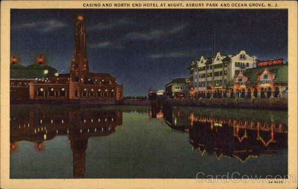 Casino and North End Hotel at Night Asbury Park New Jersey