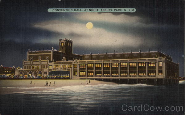 Convention Hall at Night Asbury Park New Jersey