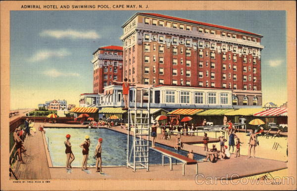 Admiral Hotel and Swimming Pool Cape May New Jersey